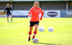 SOUTHAMPTON, ENGLAND - OCTOBER 11: Kirsty Whitton ahead of FAWNL match between Southampton Women and Exeter City at Snows Stadium on October 11, 2020 in Southampton, England. (Photo by Isabelle Field/Southampton FC via Getty Images)
