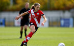 SOUTHAMPTON, ENGLAND - OCTOBER 11: Lucia Kendall of Southampton during FAWNL match between Southampton Women and Exeter City at Snows Stadium on October 11, 2020 in Southampton, England. (Photo by Isabelle Field/Southampton FC via Getty Images)