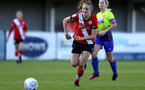 SOUTHAMPTON, ENGLAND - OCTOBER 11: Ella Pusey of Southampton during FAWNL match between Southampton Women and Exeter City at Snows Stadium on October 11, 2020 in Southampton, England. (Photo by Isabelle Field/Southampton FC via Getty Images)