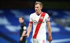 LONDON, ENGLAND - OCTOBER 17: James Ward-Prowse of Southampton  during the Premier League match between Chelsea and Southampton at Stamford Bridge on October 17, 2020 in London, United Kingdom. Sporting stadiums around the UK remain under strict restrictions due to the Coronavirus Pandemic as Government social distancing laws prohibit fans inside venues resulting in games being played behind closed doors. (Photo by Matt Watson/Southampton FC via Getty Images)