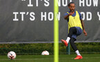 SOUTHAMPTON, ENGLAND - OCTOBER 21: Theo Walcott during a Southampton FC Training session at the Staplewood Complex on October 21, 2020 in Southampton, England. (Photo by Isabelle Field/Southampton FC via Getty Images)