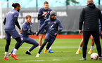 SOUTHAMPTON, ENGLAND - OCTOBER 23: Kyle Walker-Peters(centre) during a Southampton FC training session at the Staplewood Campus on October 23, 2020 in Southampton, England. (Photo by Matt Watson/Southampton FC via Getty Images)