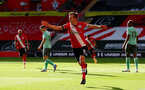 SOUTHAMPTON, ENGLAND - OCTOBER 25: James Ward-Prowse of Southampton celebrates after opening the scoring during the Premier League match between Southampton and Everton at St Mary's Stadium on October 25, 2020 in Southampton, England. Sporting stadiums around the UK remain under strict restrictions due to the Coronavirus Pandemic as Government social distancing laws prohibit fans inside venues resulting in games being played behind closed doors. (Photo by Matt Watson/Southampton FC via Getty Images)