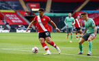 SOUTHAMPTON, ENGLAND - OCTOBER 25: Che Adams of Southampton during the Premier League match between Southampton and Everton at St Mary's Stadium on October 25, 2020 in Southampton, England. Sporting stadiums around the UK remain under strict restrictions due to the Coronavirus Pandemic as Government social distancing laws prohibit fans inside venues resulting in games being played behind closed doors. (Photo by Matt Watson/Southampton FC via Getty Images)
