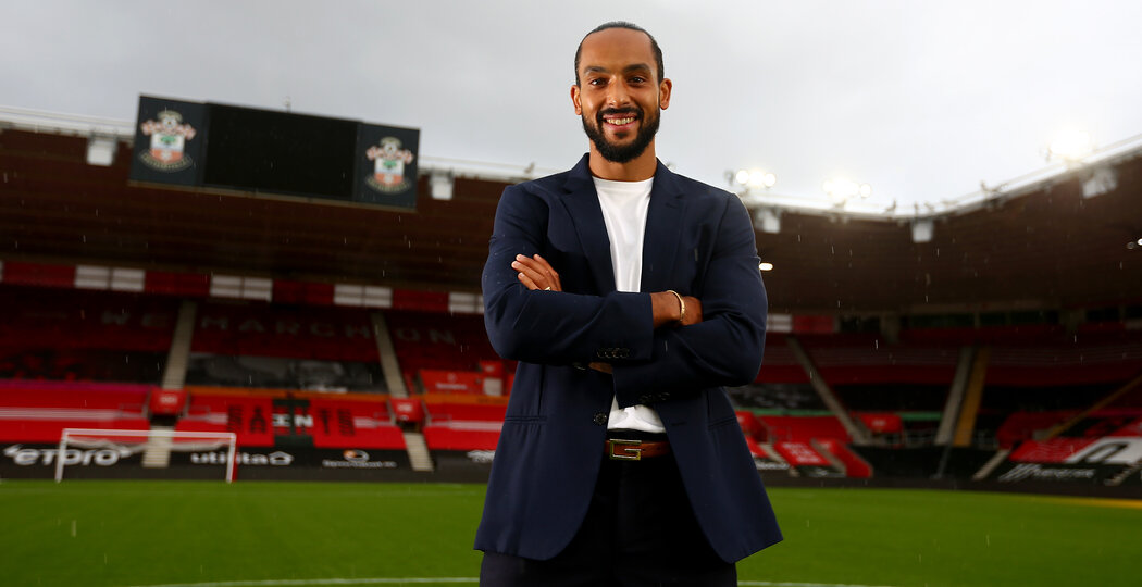 SOUTHAMPTON, ENGLAND - OCTOBER 28: Theo Walcott pictured for the club's match day magazine, at St Mary's Stadium on October 28, 2020 in Southampton, England. (Photo by Matt Watson/Southampton FC via Getty Images)