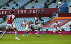 BIRMINGHAM, ENGLAND - NOVEMBER 01: Danny Ings(centre) of Southampton strikes to score his teams 4th goal during the Premier League match between Aston Villa and Southampton at Villa Park on November 01, 2020 in Birmingham, England. Sporting stadiums around the UK remain under strict restrictions due to the Coronavirus Pandemic as Government social distancing laws prohibit fans inside venues resulting in games being played behind closed doors. (Photo by Matt Watson/Southampton FC via Getty Images)