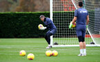SOUTHAMPTON, ENGLAND - NOVEMBER 21: Fraser Forster during a Southampton FC training session at the Staplewood Campus on November 21, 2020 in Southampton, England. (Photo by Matt Watson/Southampton FC via Getty Images)