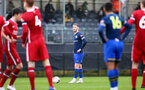 LIVERPOOL, ENGLAND - NOVEMBER 21: Callum Slattery of Southampton ahead of taking free kick during the Premier League 2 match between Liverpool and Southampton FC B Team at the Liverpool Academy on November 21, 2020 in Liverpool , England. (Photo by Isabelle Field/Southampton FC via Getty Images) (Photo by Isabelle Field/Isabelle Field)