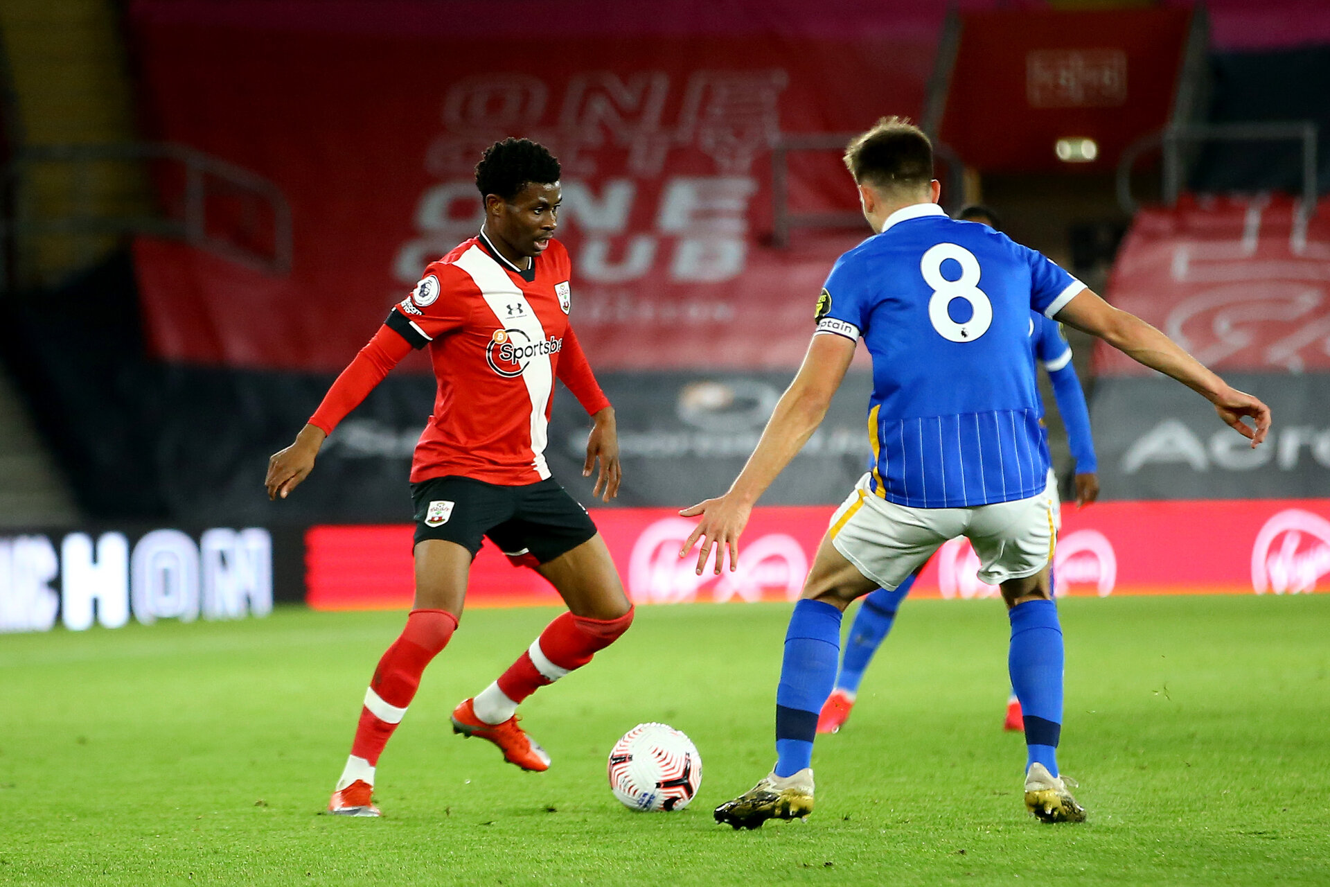 SOUTHAMPTON, ENGLAND - NOVEMBER 30: during the Premier League 2 match between Southampton FC B Team and Brighton & Hove Albion at the St Mary's Stadium on November 30, 2020 in Southampton, England. (Photo by Isabelle Field/Southampton FC via Getty Images)