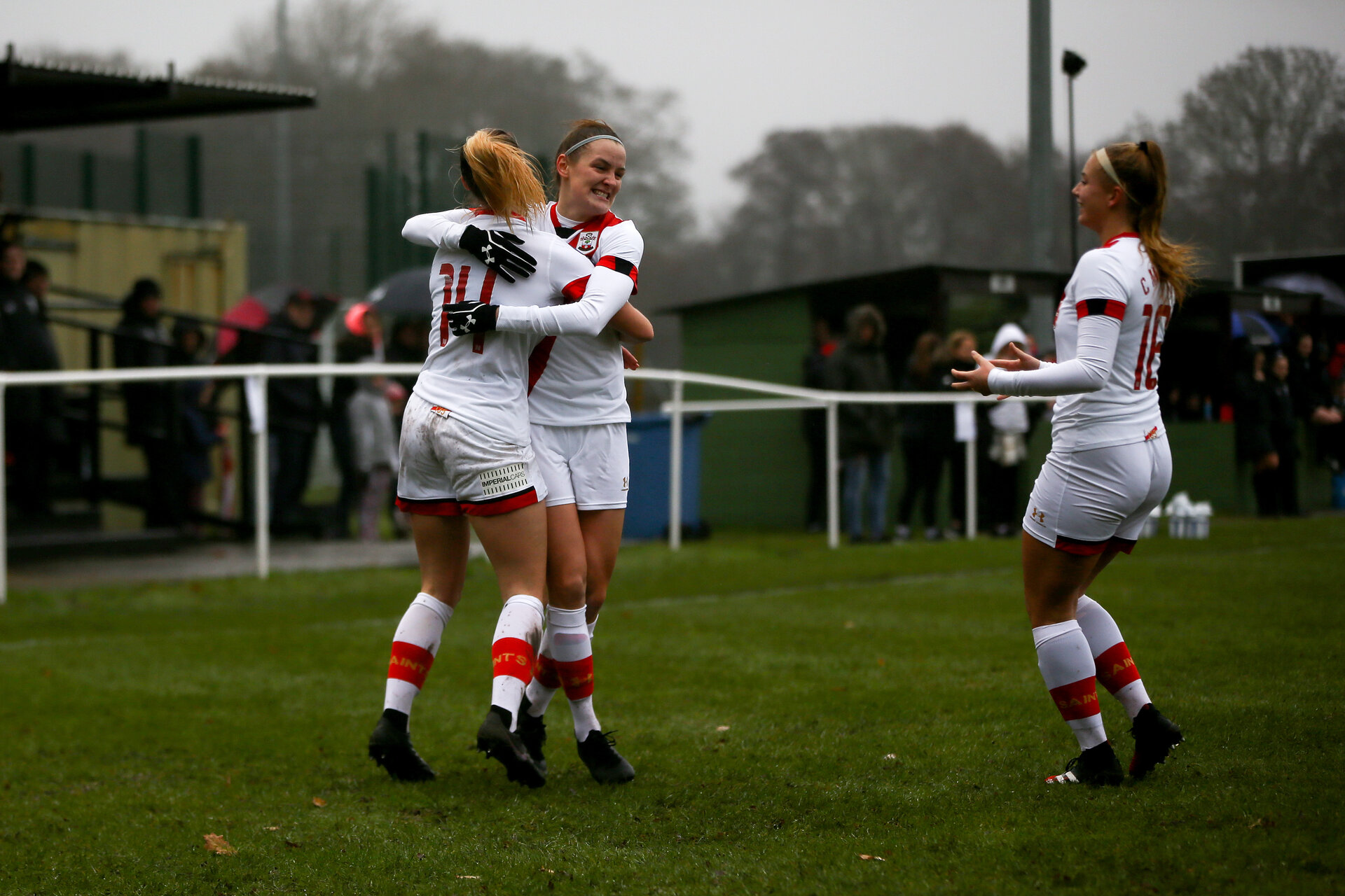 WIMBORNE, ENGLAND - DECEMBER 13:  during The Vitality Women's FA Cup, first-round proper match between AFC Bournemouth and Southampton FC Women's at Verwood FC on December 13, 2020 in, Wimborne, England. (Photo by Isabelle Field/Southampton FC via Getty Images)