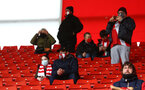 SOUTHAMPTON, ENGLAND - DECEMBER 13: Fans back in the stadium during the Premier League match between Southampton and Sheffield United at St Mary's Stadium on December 13, 2020 in Southampton, England. A limited number of spectators (2000) are welcomed back to stadiums to watch elite football across England. This was following easing of restrictions on spectators in tiers one and two areas only. (Photo by Matt Watson/Southampton FC via Getty Images)