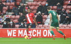 SOUTHAMPTON, ENGLAND - DECEMBER 13: Ryan Bertrand of Southampton during the Premier League match between Southampton and Sheffield United at St Mary's Stadium on December 13, 2020 in Southampton, England. A limited number of spectators (2000) are welcomed back to stadiums to watch elite football across England. This was following easing of restrictions on spectators in tiers one and two areas only. (Photo by Matt Watson/Southampton FC via Getty Images)
