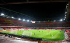 LONDON, ENGLAND - DECEMBER 16: General view of Emirates Stadium ahead of the Premier League match between Arsenal and Southampton at Emirates Stadium on December 16, 2020 in London, England. The match will be played without fans, behind closed doors as a Covid-19 precaution. (Photo by Matt Watson/Southampton FC via Getty Images)