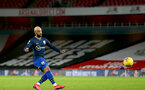 LONDON, ENGLAND - DECEMBER 16: Nathan Redmond of Southampton during the Premier League match between Arsenal and Southampton at Emirates Stadium on December 16, 2020 in London, England. The match will be played without fans, behind closed doors as a Covid-19 precaution. (Photo by Matt Watson/Southampton FC via Getty Images)