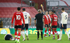 SOUTHAMPTON, ENGLAND - DECEMBER 19: Oriol Romeu of Southampton relieves a yellow card during the Premier League match between Southampton and Manchester City at St Mary's Stadium on December 19, 2020 in Southampton, England. A limited number of fans (2000) are welcomed back to stadiums to watch elite football across England. This was following easing of restrictions on spectators in tiers one and two areas only. (Photo by Matt Watson/Southampton FC via Getty Images)