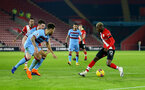 SOUTHAMPTON, ENGLAND - DECEMBER 29: Moussa Djenepo of Southampton on the ball during the Premier League match between Southampton and West Ham United at St Mary's Stadium on December 29, 2020 in Southampton, England. (Photo by Matt Watson/Southampton FC via Getty Images)