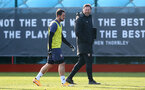SOUTHAMPTON, ENGLAND - JANUARY 02: Danny Ings(L) and Ralph Hasenhüttl during a Southampton FC training session at the Staplewood Campus on January 02, 2021 in Southampton, England. (Photo by Matt Watson/Southampton FC via Getty Images)