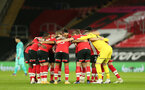 SOUTHAMPTON, ENGLAND - JANUARY 04: Southampton players ahead of the Premier League match between Southampton and Liverpool at St Mary's Stadium on January 04, 2021 in Southampton, England. (Photo by Matt Watson/Southampton FC via Getty Images)