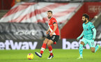 SOUTHAMPTON, ENGLAND - JANUARY 04: Jack Stephens of Southampton during the Premier League match between Southampton and Liverpool at St Mary's Stadium on January 04, 2021 in Southampton, England. (Photo by Matt Watson/Southampton FC via Getty Images)