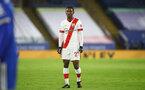 LEICESTER, ENGLAND - JANUARY 16: Ibrahima Diallo of Southampton during the Premier League match between Leicester City and Southampton at The King Power Stadium on January 16, 2021 in Leicester, England. Sporting stadiums around England remain under strict restrictions due to the Coronavirus Pandemic as Government social distancing laws prohibit fans inside venues resulting in games being played behind closed doors. (Photo by Matt Watson/Southampton FC via Getty Images)