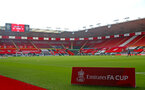 SOUTHAMPTON, ENGLAND - JANUARY 23: A general view ahead of the FA Cup fourth round match between Southampton FC and Arsenal FC, at St.Mary's stadium, on January 23, 2021 in Southampton, England. Sporting stadiums around the UK remain under strict restrictions due to the Coronavirus Pandemic as Government social distancing laws prohibit fans inside venues resulting in games being played behind closed doors. (Photo by Matt Watson/Southampton FC via Getty Images)