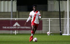 LONDON, ENGLAND - JANUARY 29: David Agbontohoma  of Southampton during the Premier League 2 match between West Ham United and Southampton B Team at Rush Green Training Ground on January 29, 2021 in London, England. (Photo by Isabelle Field/Southampton FC via Getty Images)