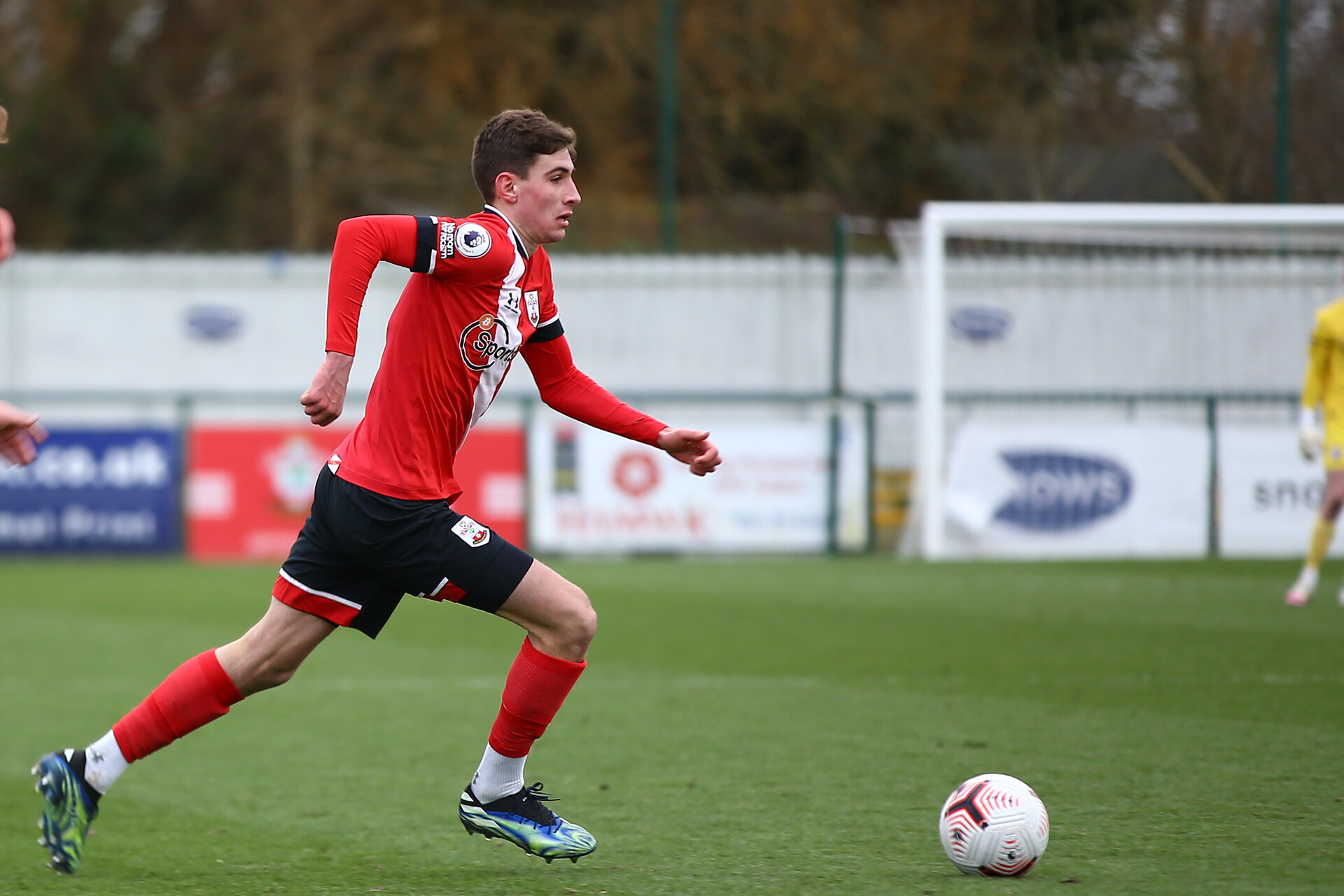 SOUTHAMPTON, ENGLAND - FEBRUARY 07: James Morris of Southampton during the Premier League 2 match between  Southampton B Team and Tottenham Hotspur at Snows Stadium on February 07, 2021 in Southampton, England. (Photo by Isabelle Field/Southampton FC via Getty Images)