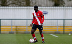 SOUTHAMPTON, ENGLAND - FEBRUARY 07: Pascal Kpohomouh of Southampton during the Premier League 2 match between  Southampton B Team and Tottenham Hotspur at Snows Stadium on February 07, 2021 in Southampton, England. (Photo by Isabelle Field/Southampton FC via Getty Images)