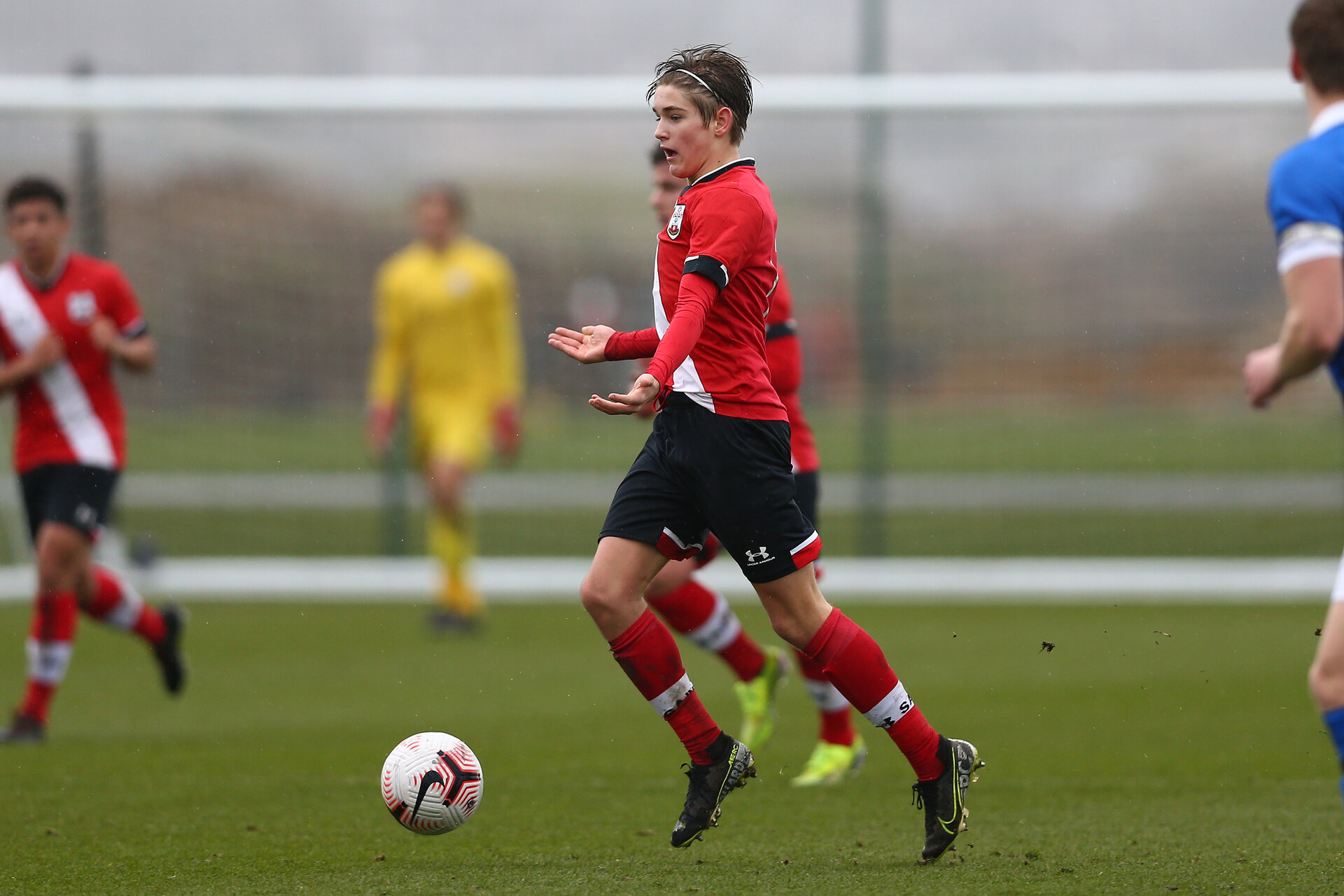 BRIGHTON, ENGLAND - FEBRUARY 16: Dominic Ballard of Southampton during the Premier League U18s match between Brighton & Hove Albion and Southampton U18 at The Amex Elite Football Performance Center on February 16, 2021 in Brighton, England. (Photo by Isabelle Field/Southamtpon FC)