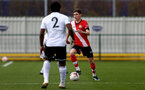 SOUTHAMPTON, ENGLAND - FEBRUARY 21: James Morris (R) of Southampton during Premier League 2 match between Southampton B Team and Derby County U23s at The Snows Stadium on February 21, 2021 in Southampton, England. (Photo by Isabelle Field/Southampton FC via Getty Images)