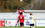 SOUTHAMPTON, ENGLAND - FEBRUARY 21: David Agbontohoma   (R) of Southampton during Premier League 2 match between Southampton B Team and Derby County U23s at The Snows Stadium on February 21, 2021 in Southampton, England. (Photo by Isabelle Field/Southampton FC via Getty Images)