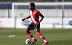 SOUTHAMPTON, ENGLAND - FEBRUARY 27: Kazeem Olaigbe of Southampton during Premier League 2 match between Southampton B Team and Manchester United U23s at The Snows Stadium on February 27, 2021 in Southampton, England. (Photo by Isabelle Field/Southampton FC via Getty Images)