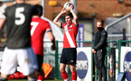 SOUTHAMPTON, ENGLAND - FEBRUARY 27: James Morris of Southampton during Premier League 2 match between Southampton B Team and Manchester United U23s at The Snows Stadium on February 27, 2021 in Southampton, England. (Photo by Isabelle Field/Southampton FC via Getty Images)