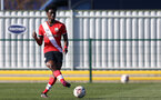 SOUTHAMPTON, ENGLAND - FEBRUARY 27: David Agbontohoma   of Southampton during Premier League 2 match between Southampton B Team and Manchester United U23s at The Snows Stadium on February 27, 2021 in Southampton, England. (Photo by Isabelle Field/Southampton FC via Getty Images)