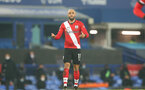 LIVERPOOL, ENGLAND - MARCH 01: Nathan Redmond of Southampton during the Premier League match between Everton and Southampton at Goodison Park on March 01, 2021 in Liverpool, England. Sporting stadiums around the UK remain under strict restrictions due to the Coronavirus Pandemic as Government social distancing laws prohibit fans inside venues resulting in games being played behind closed doors. (Photo by Matt Watson/Southampton FC via Getty Images)