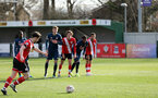 SOUTHAMPTON, ENGLAND - MARCH 06: Will Ferry scores from the spot during the Premier League 2 match between  Southampton B Team and Arsenal at Snows Stadium on March 06, 2021 in Southampton, England. (Photo by Chris Moorhouse/Southampton FC via Getty Images)