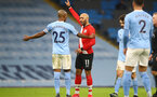MANCHESTER, ENGLAND - MARCH 10: Nathan Redmond of Southampton during the Premier League match between Manchester City and Southampton at Etihad Stadium on March 10, 2021 in Manchester, England. Sporting stadiums around the UK remain under strict restrictions due to the Coronavirus Pandemic as Government social distancing laws prohibit fans inside venues resulting in games being played behind closed doors. (Photo by Matt Watson/Southampton FC via Getty Images)