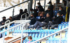 SOUTHAMPTON, ENGLAND - MARCH 21: Southampton first team coaching staff in attendance to watch the B Team game during the Premier League 2 match between Southampton B Team and Liverpool at the Snows Stadium on March 21, 2021 in Southampton, England.  (Photo by Isabelle Field/Southampton FC via Getty Images)