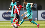 SOUTHAMPTON, ENGLAND - MARCH 21: Lucas Defise of Southampton during the Premier League 2 match between Southampton B Team and Liverpool at the Snows Stadium on March 21, 2021 in Southampton, England.  (Photo by Isabelle Field/Southampton FC via Getty Images)