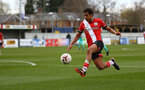 SOUTHAMPTON, ENGLAND - MARCH 21: Caleb Watts of Southampton during the Premier League 2 match between Southampton B Team and Liverpool at the Snows Stadium on March 21, 2021 in Southampton, England.  (Photo by Isabelle Field/Southampton FC via Getty Images)