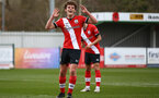 SOUTHAMPTON, ENGLAND - MARCH 21: Luke Pearce of Southampton during the Premier League 2 match between Southampton B Team and Liverpool at the Snows Stadium on March 21, 2021 in Southampton, England.  (Photo by Isabelle Field/Southampton FC via Getty Images)