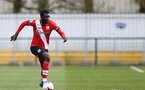 SOUTHAMPTON, ENGLAND - MARCH 21: Pascal Kpohomouh of Southampton during the Premier League 2 match between Southampton B Team and Liverpool at the Snows Stadium on March 21, 2021 in Southampton, England.  (Photo by Isabelle Field/Southampton FC via Getty Images)