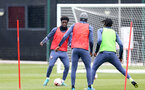 SOUTHAMPTON, ENGLAND - MARCH 24: David Agbontohoma (L) during Southampton B Team training session at Staplewood Complex on March 24, 2021 in Southampton, England. (Photo by Isabelle Field/Southampton FC via Getty Images)