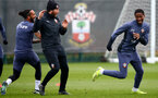 SOUTHAMPTON, ENGLAND - MARCH 24: Theo Walcott(L) and Kayne Ramsay(R) during a Southampton FC training session at the Staplewood Campus on March 24, 2021 in Southampton, England. (Photo by Matt Watson/Southampton FC via Getty Images)