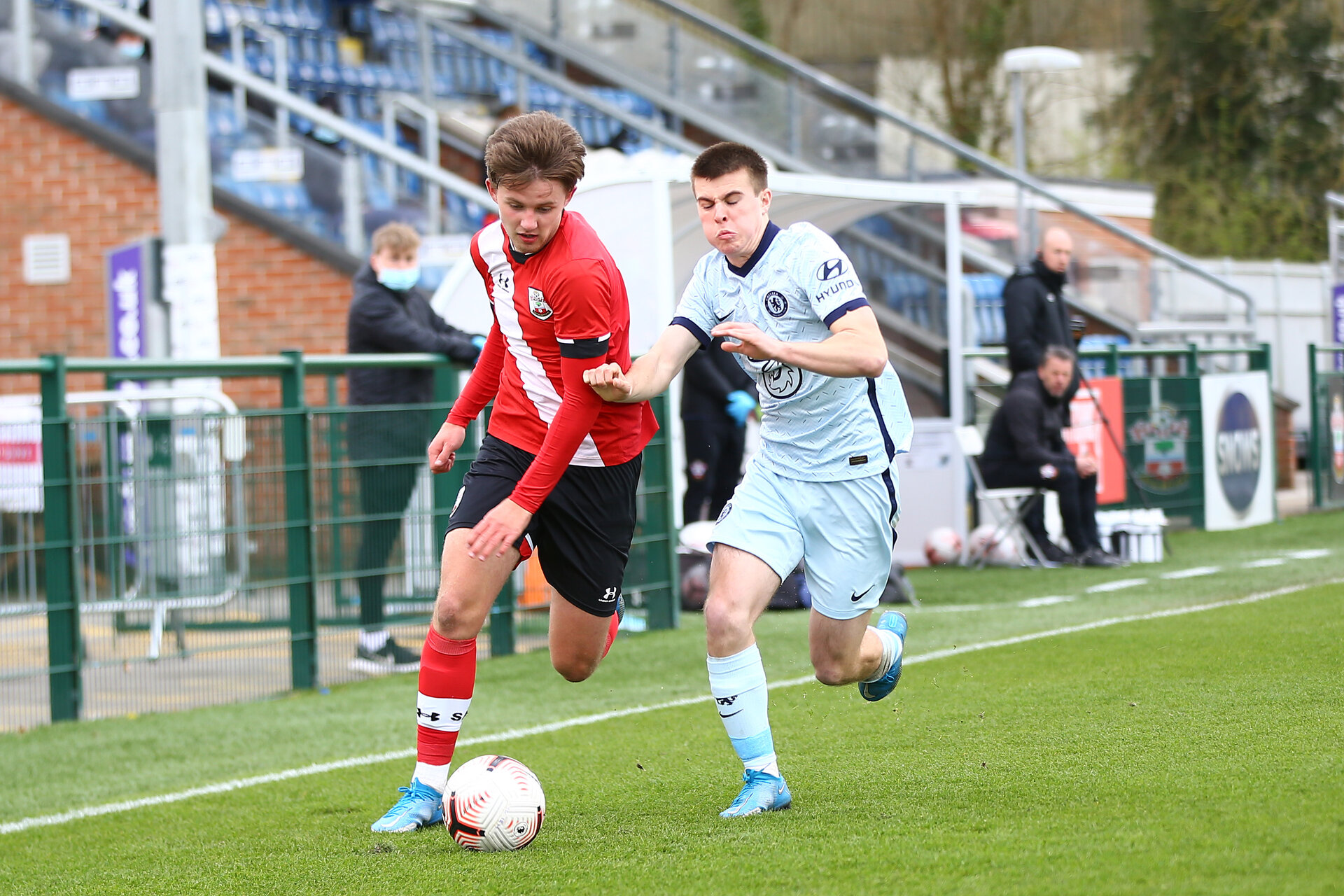 SOUTHAMPTON, ENGLAND - MARCH 27:  during the Premier League U18s match between Southampton U18 and  Chelsea at Snows Stadium on March 27, 2021 in Southampton, England. (Photo by Isabelle Field/Southamtpon FC)