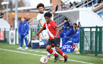 SOUTHAMPTON, ENGLAND - MARCH 27: Josh Lett of Southampton during the Premier League U18s match between Southampton U18 and  Chelsea at Snows Stadium on March 27, 2021 in Southampton, England. (Photo by Isabelle Field/Southamtpon FC)
