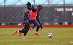 SOUTHAMPTON, ENGLAND - MARCH 31: Mohammed Salisu(L) and Dan N'Lundulu during a Southampton FC training session at the Staplewood Campus on March 31, 2021 in Southampton, England. (Photo by Matt Watson/Southampton FC via Getty Images)