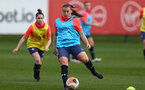 SOUTHAMPTON, ENGLAND - April 01: Shannon Siewright during Southampton Women's training session at Staplewood Complex on April 01, 2021 in Southampton, England.  (Photo by Isabelle Field/Southampton FC via Getty Images)