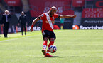SOUTHAMPTON, ENGLAND - APRIL 04: Nathan Redmond of Southampton during the Premier League match between Southampton and Burnley at St Mary's Stadium on April 04, 2021 in Southampton, England. Sporting stadiums around the UK remain under strict restrictions due to the Coronavirus Pandemic as Government social distancing laws prohibit fans inside venues resulting in games being played behind closed doors. (Photo by Matt Watson/Southampton FC via Getty Images)