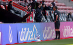 SOUTHAMPTON, ENGLAND - APRIL 04: Referee Andre Marriner checks the VAR during the Premier League match between Southampton and Burnley at St Mary's Stadium on April 04, 2021 in Southampton, England. Sporting stadiums around the UK remain under strict restrictions due to the Coronavirus Pandemic as Government social distancing laws prohibit fans inside venues resulting in games being played behind closed doors. (Photo by Matt Watson/Southampton FC via Getty Images)